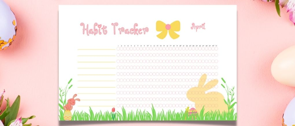 Habit Trackers Easter free printables